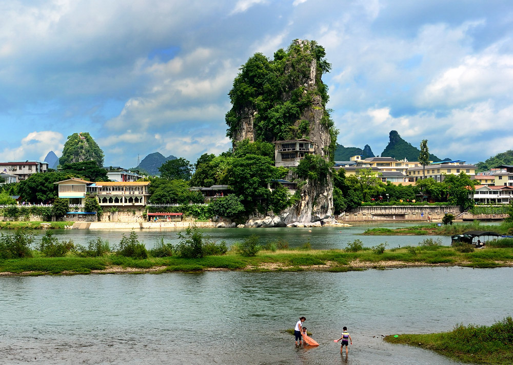Fubo Hill by the Li River,Guilin