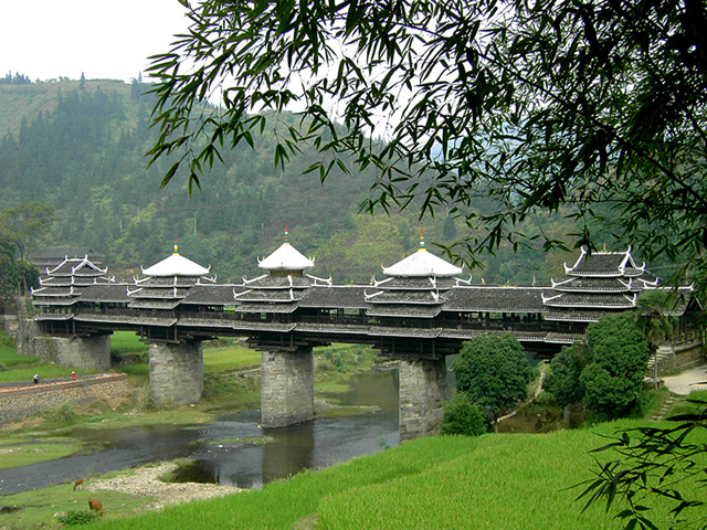Chengyang Wind and Rain Bridge in Sanjiang