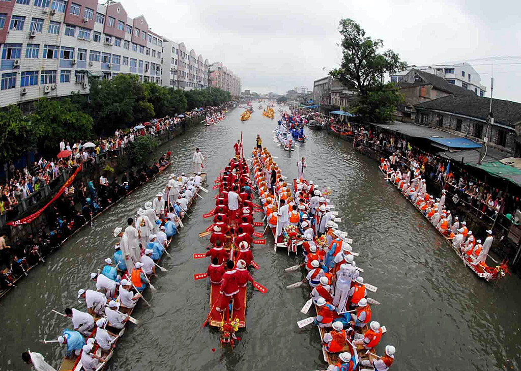 Dragon boat racing for Chinese Duanwu Festival