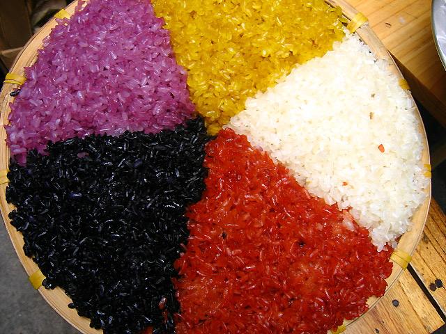 Kết quả hình ảnh cho five color sticky rice