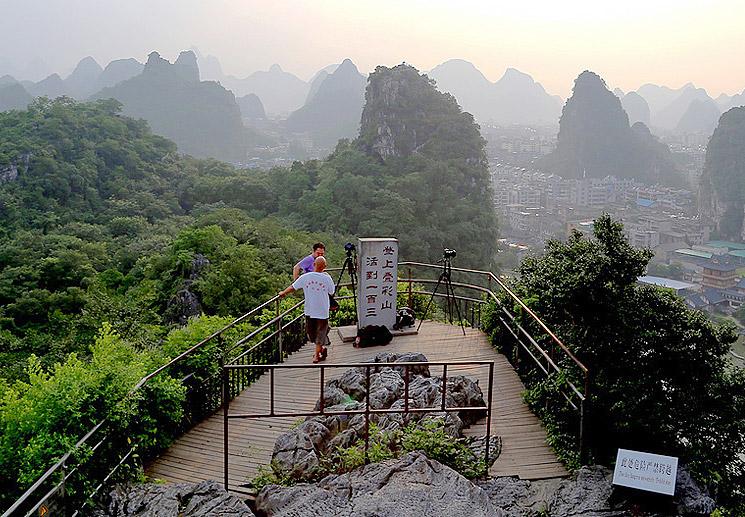 The summit of Diecai Hill,Guilin