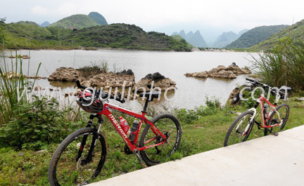 Backroad biking from Xingping to Yangshuo
