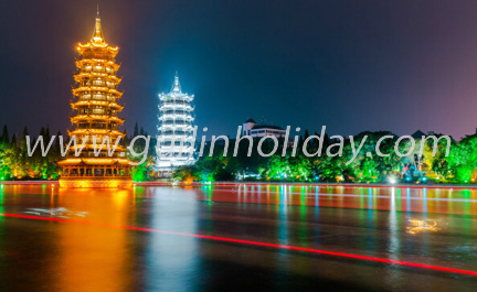 Golden and silver tower of Guilin