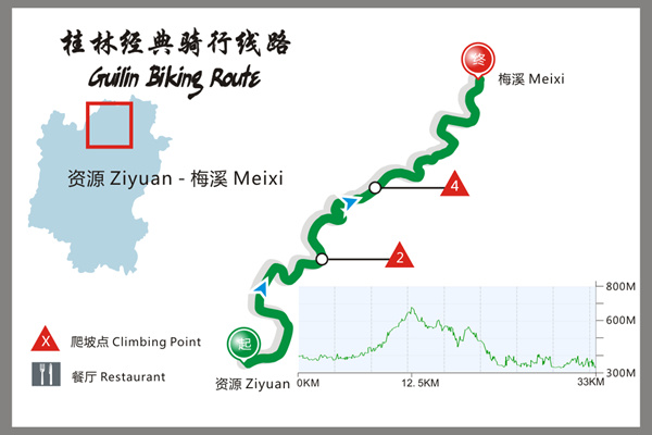 Cycling from Ziyuan to Bajiaozhai Park