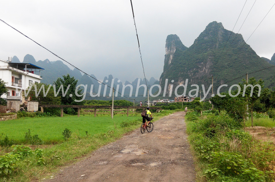 Yangshuo Biking, Biking along the Li River,