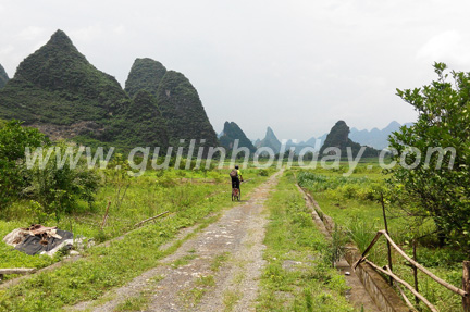 Biking to Yangshuo