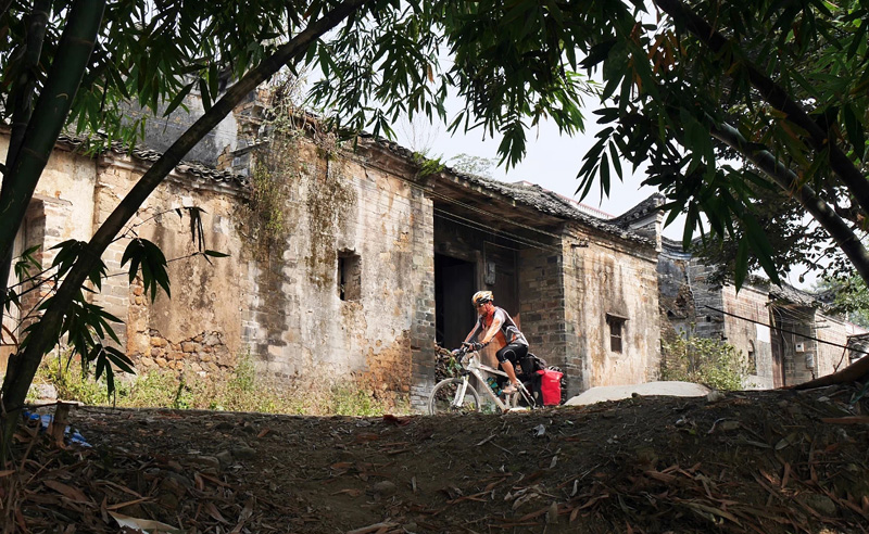 Cycling in the Villages of Guilin China