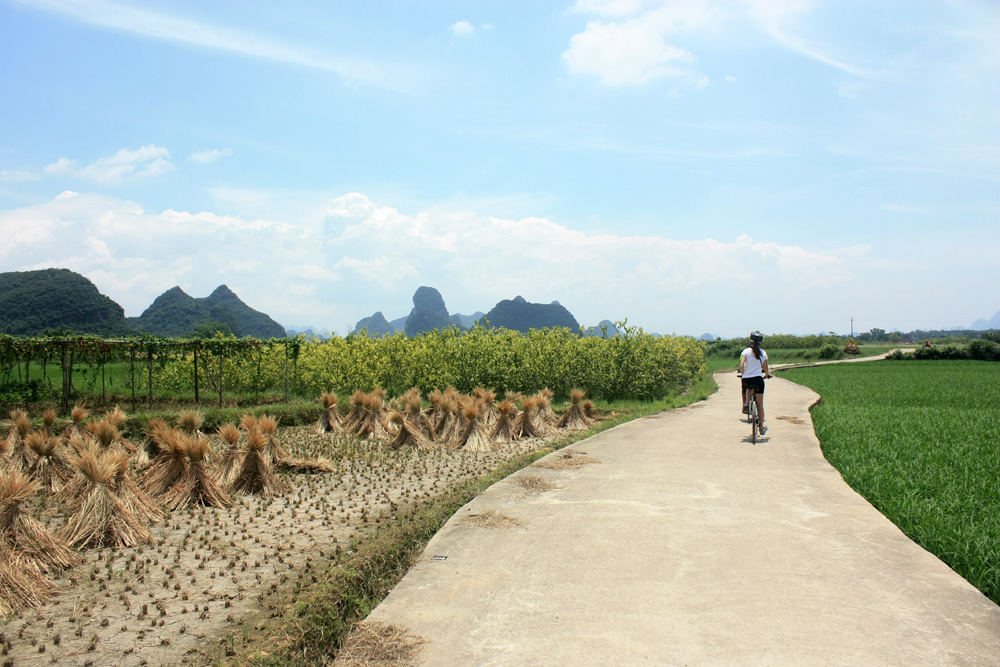 Bike route from Guilin to Yangshuo