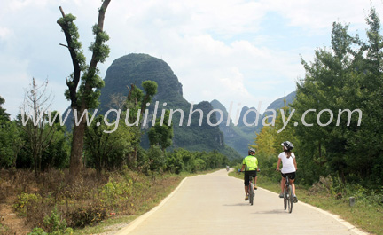 Bike tour from Yangshuo to Guilin