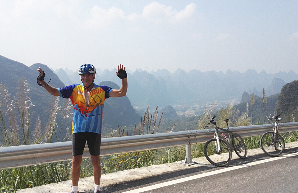 On the top of mountain from Xingping to Guilin