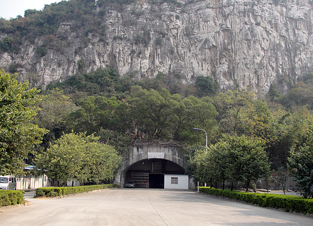the plane hangar cave of Flying Tigers in Liuzhou