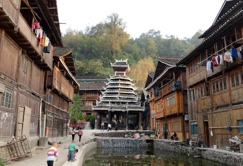 Zhaoxing Dong Vllage in Guizhou,China