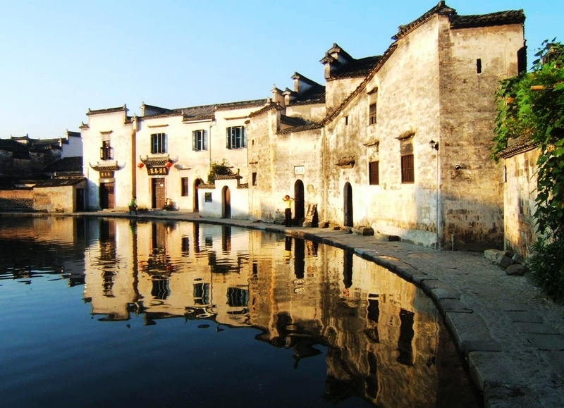 The traditional Huizhou architecture in Hongcun Village