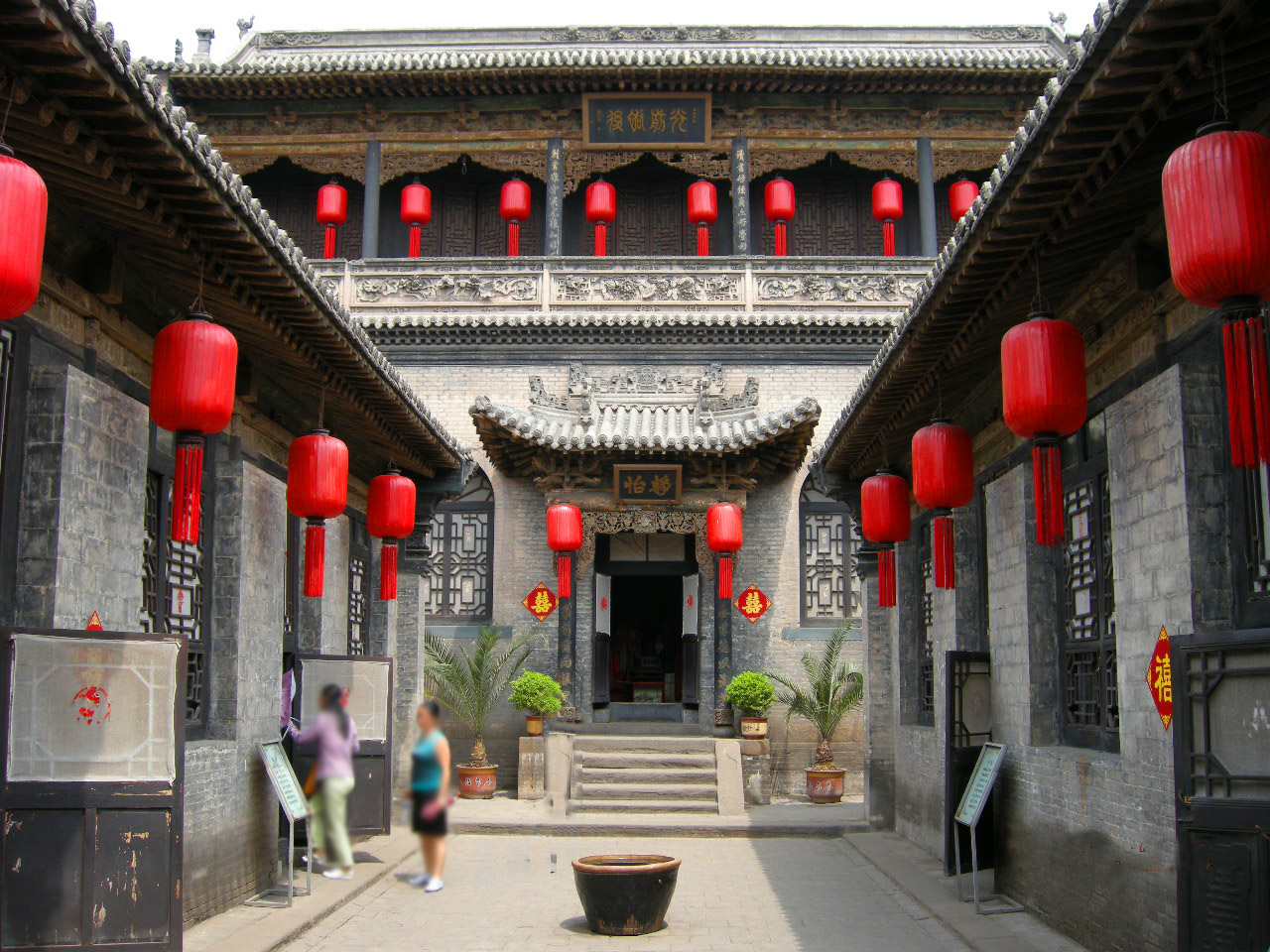 The Qiao Family Courtyard is a masterpiece of traditional civil architecture