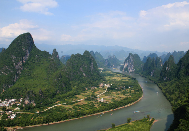 Guilin helicopter sightseeing above Li River