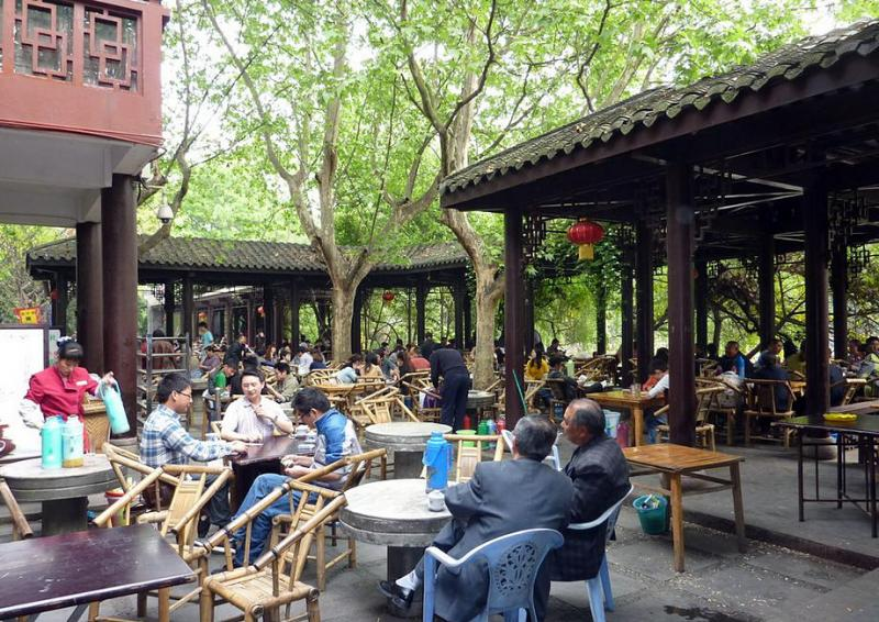 Have tea at Chengdu People's Park