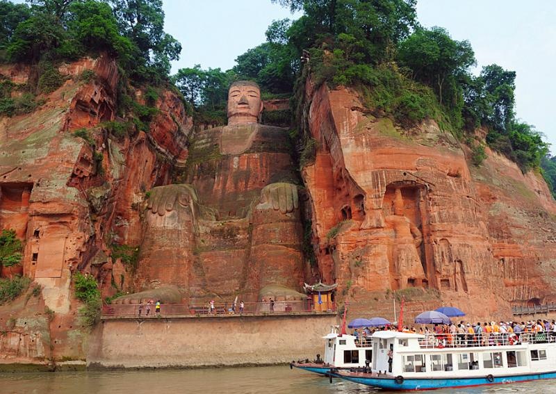 Leshan Giant Buddha (Dafo) statue,China