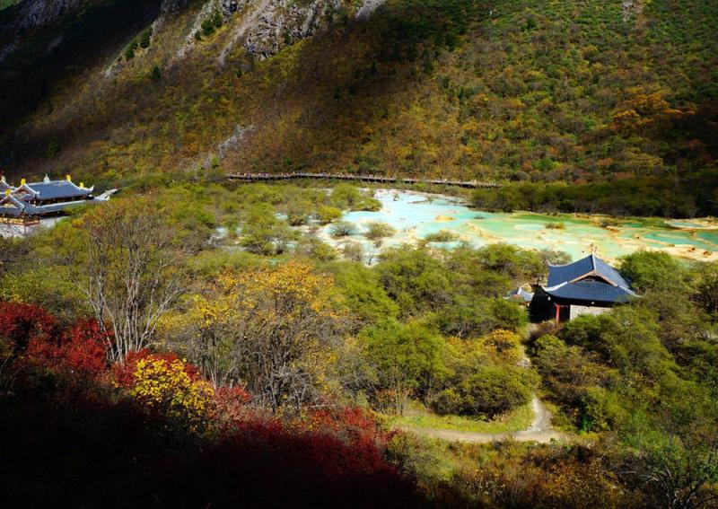 Huanglong Scenic and Historic Interest Area,Sichuan China
