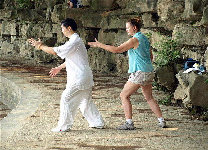 Take an authentic Taiji lesson in Guilin city