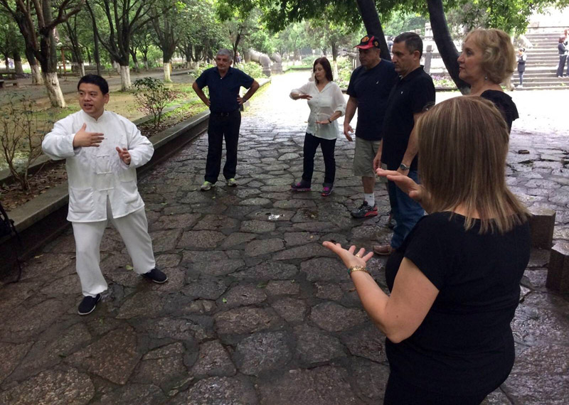 Chinese Taiji lesson in Yangshuo