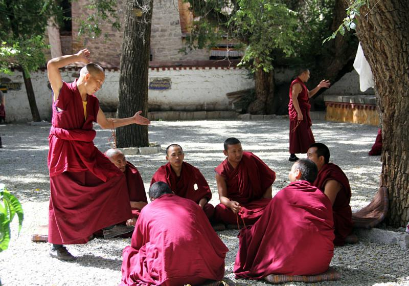 Debating monks of Sera Monastery,Lhasa Tibet