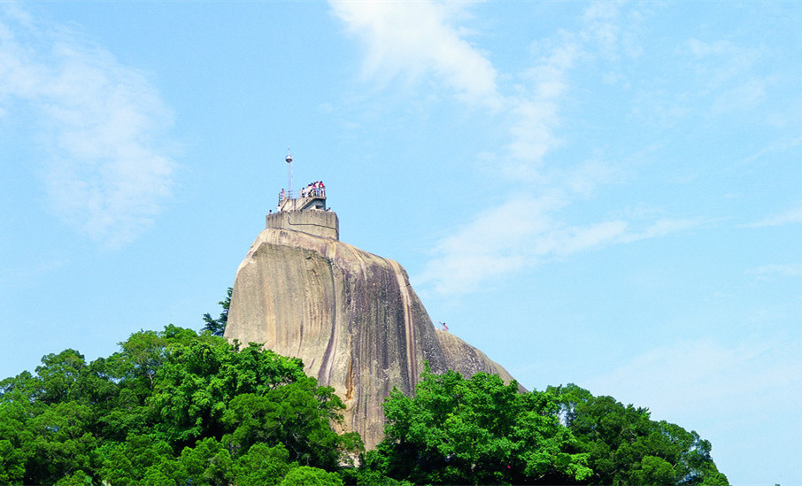 Sunlight Rock - the highest point of Gulangyu Island