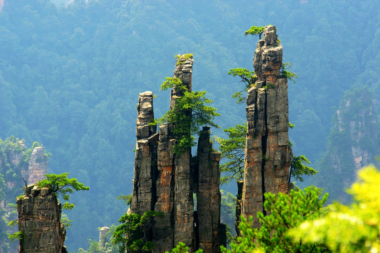 Imperial Brush Peak - the highlight of Tianzi Mountain Nature Reserve