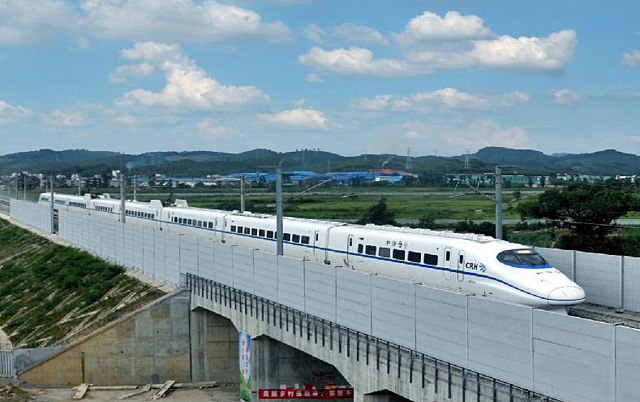 The joint testing and commissioning of Guilin-Liuzhou high-speed railway