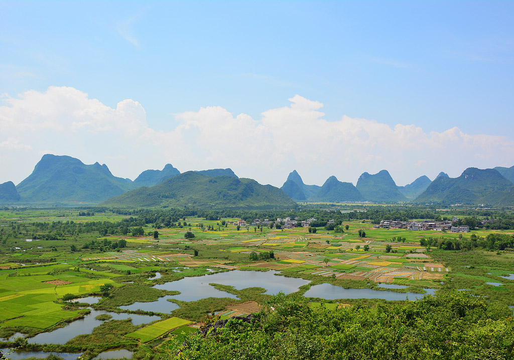 Huixian Wetland Park,Guilin