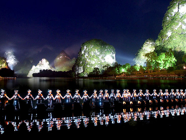 Evening show of Impression Sanjie Liu in Yangshuo