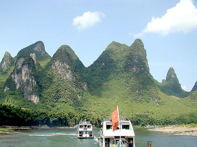 Take a Li River Cruise down to Yangshuo