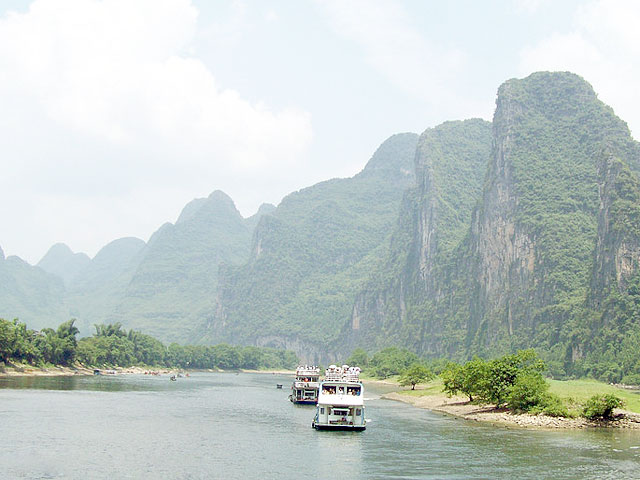 A Li River cruise offers fantastic views of Guilin Karst landscape