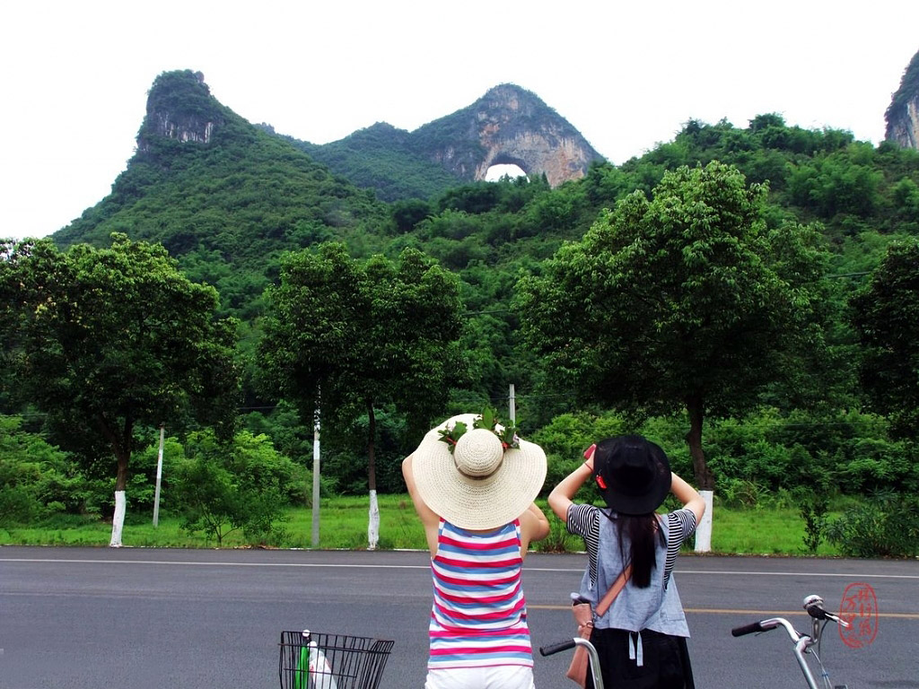 Yangshuo Moon Hill,Guilin