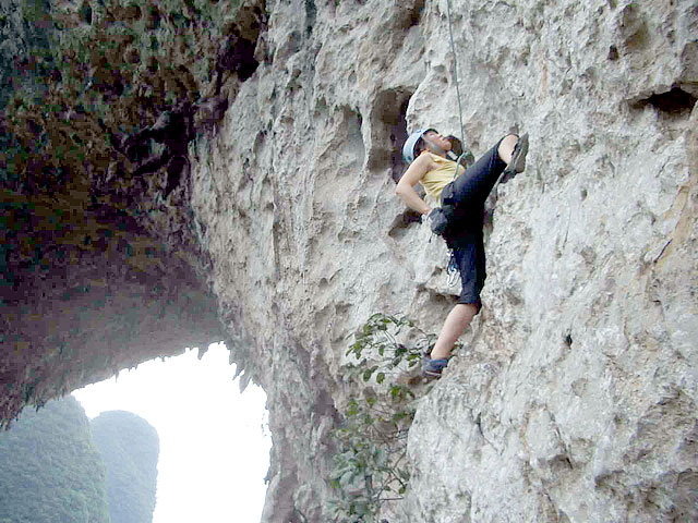 Moon Hill Rock Climbing,Yangshuo
