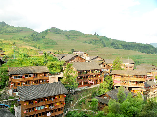 Pingan village of Zhuang ethnic minority,Longsheng