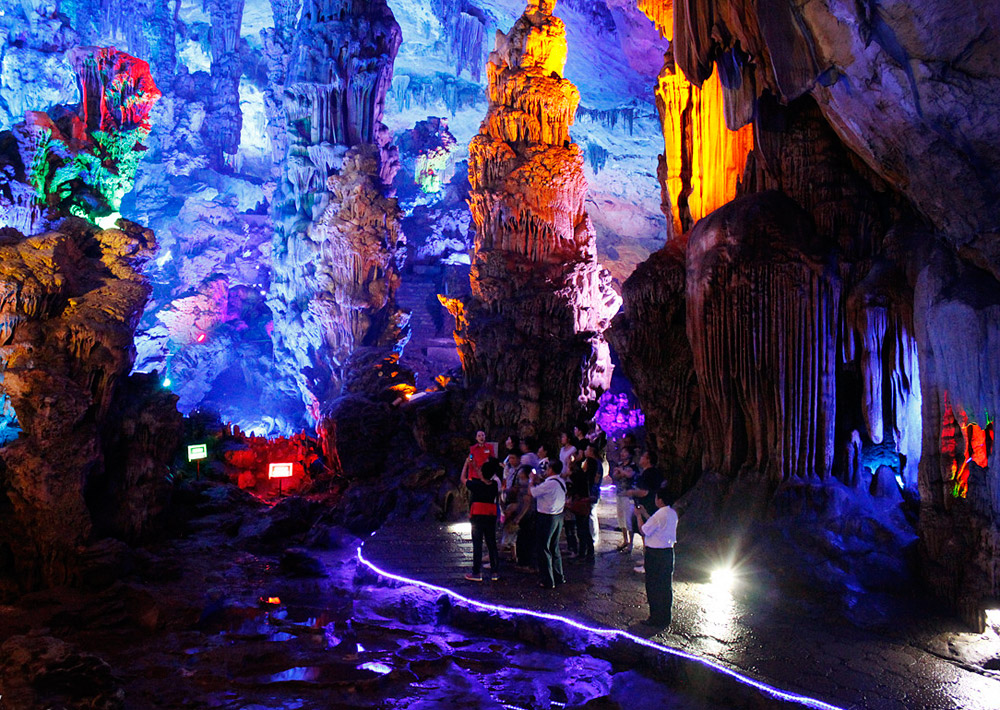 Reed Flute Cave with grotesque limestone formations