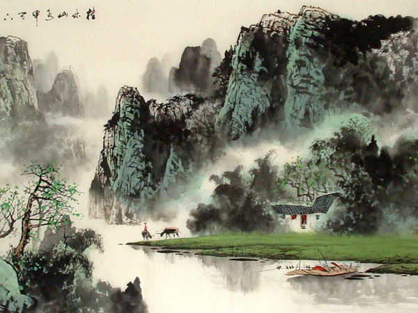 Guilin Landscape Painting - Guilin Holiday