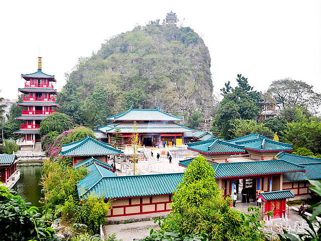Emperor Yu Temple within Yushan Park,Guilin