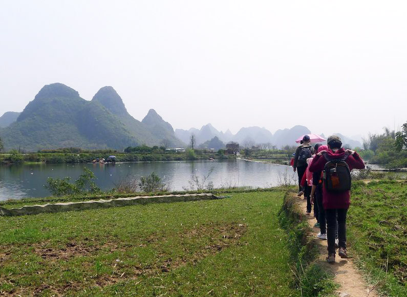 Yangshou is ideal for hiking and walking with beautiful scenery